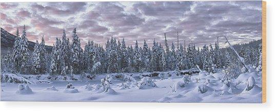Eagle River Treeline Wood Print