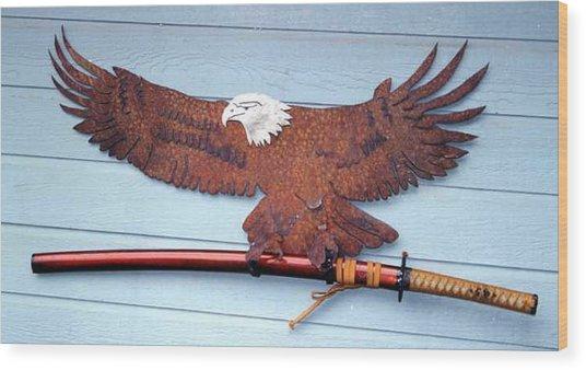 Eagle Sold   Wood Print by Steve Mudge