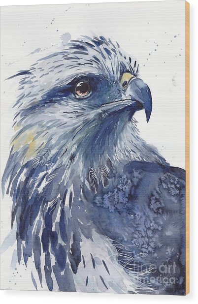 Eagle Watercolor Wood Print