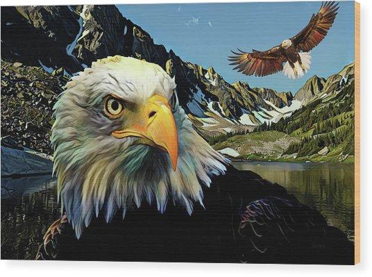 Eagles Lake Wood Print