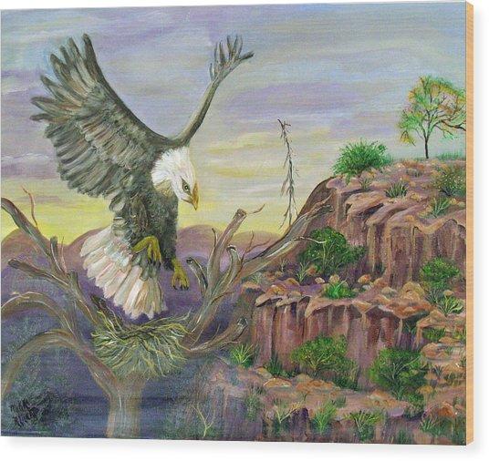 Eagles Nest Wood Print by Mikki Alhart