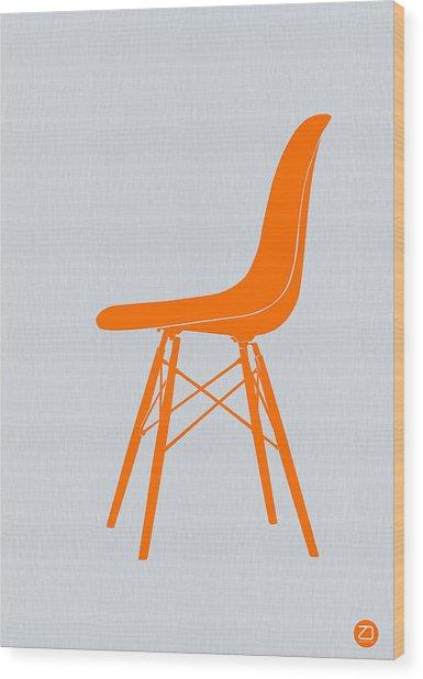 Eames Fiberglass Chair Orange Wood Print
