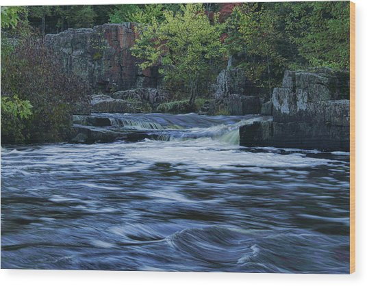 Early Fall At Eau Claire Dells Park Wood Print