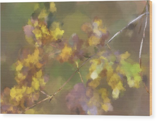 Early Fall Leaves Wood Print