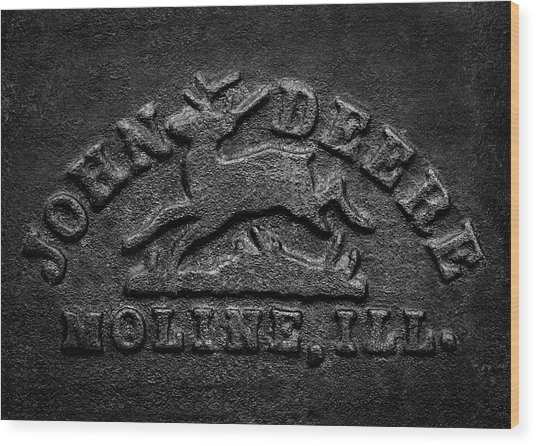 Early John Deere Emblem Wood Print