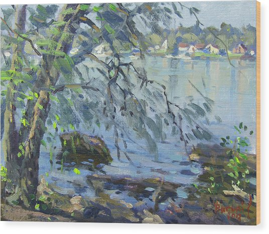 Early Morning At Fisherman's Park Wood Print