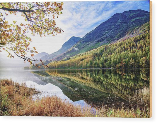 Early Morning Buttermere Wood Print