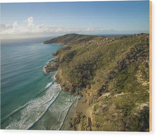 Early Morning Coastal Views On Moreton Island Wood Print