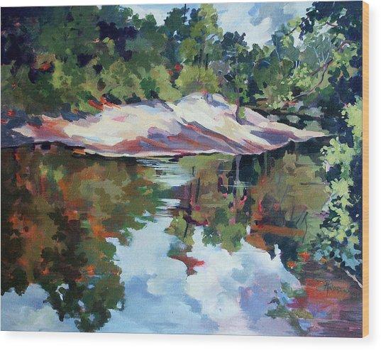 Early Morning Creekside Alabama Wood Print