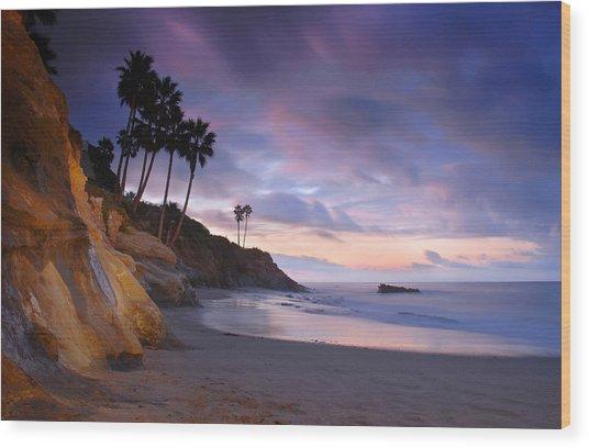 Early Morning In Laguna Beach Wood Print