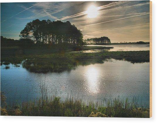Early Morning On Beach Drive II Wood Print