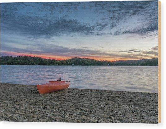Early Morning On Oxtongue Lake Wood Print