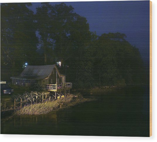 Early Morning On The River Wood Print