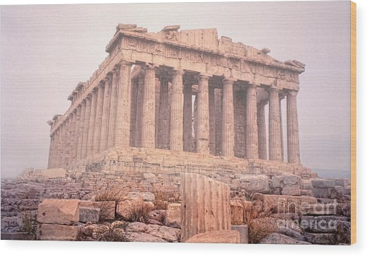 Early Morning Parthenon Wood Print