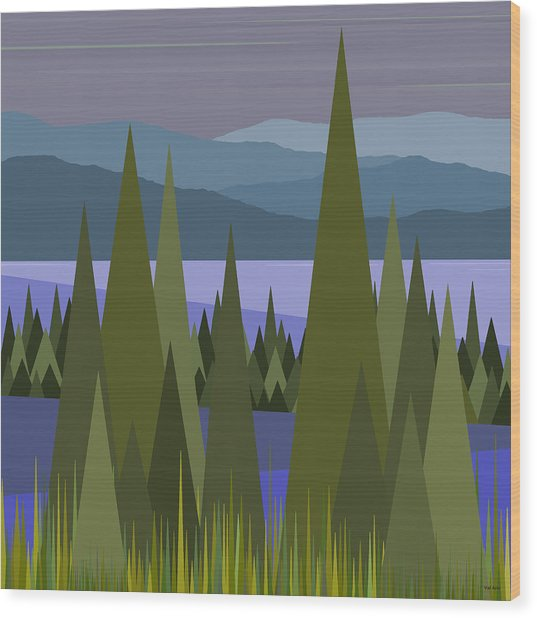 Early Morning Rain Wood Print