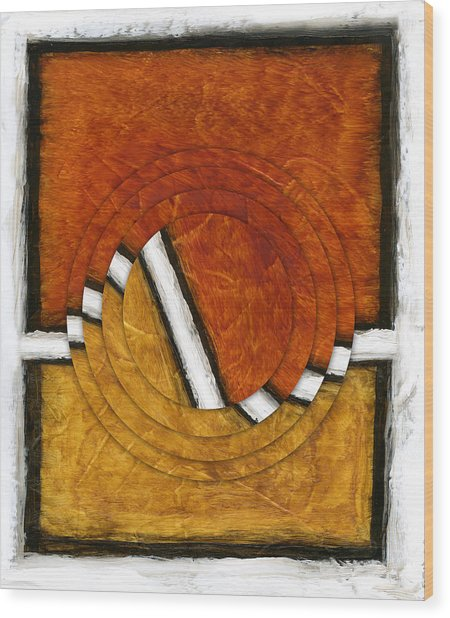 Early Morning Rounds Abstract Wood Print