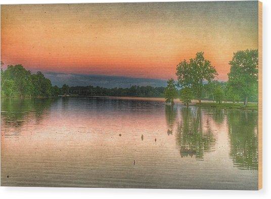 Early Morning Sky Wood Print