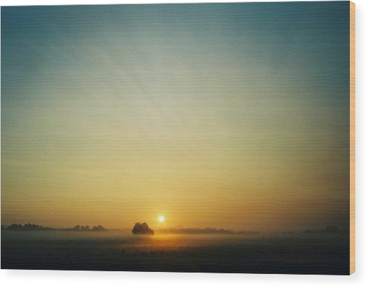 Early Sky Indiana Wood Print by Gene Linder