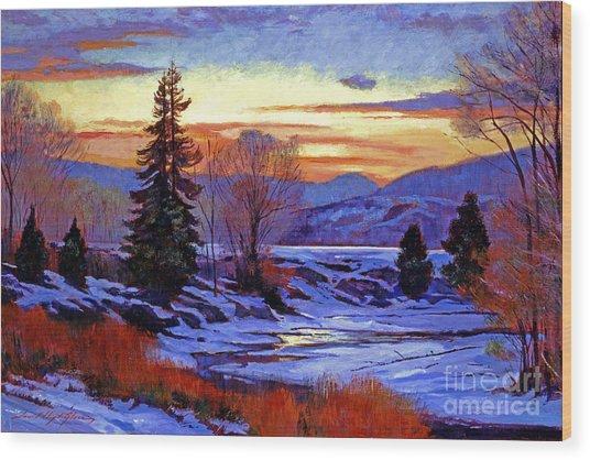 Early Spring Daybreak Wood Print by David Lloyd Glover