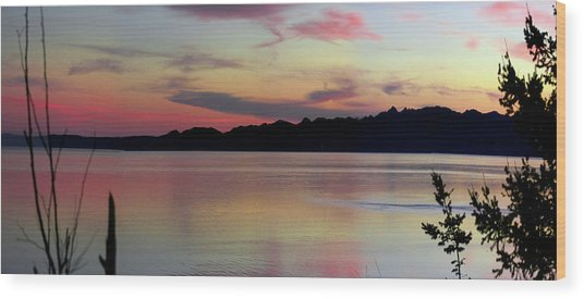 Early Whidbey Island Sunset  Wood Print by Mary Gaines