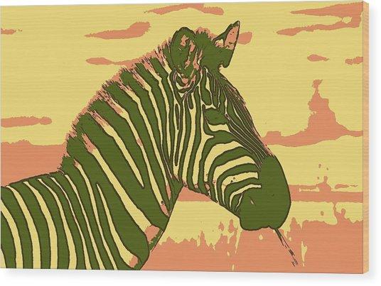 Earned Stripes Wood Print