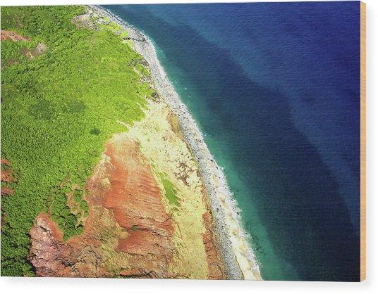 Earth Below, Na Pali Coast, Kauai Hawaii Wood Print