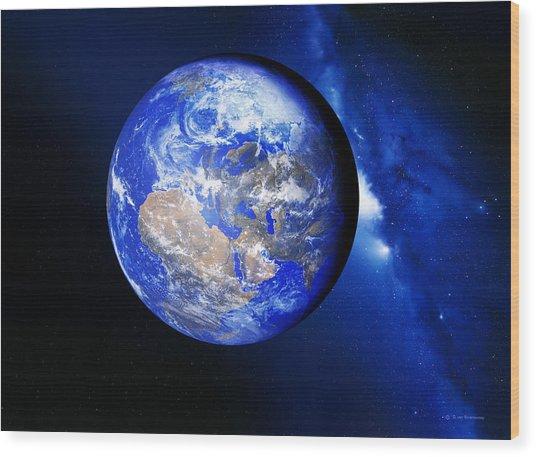 Earth Wood Print by Detlev Van Ravenswaay