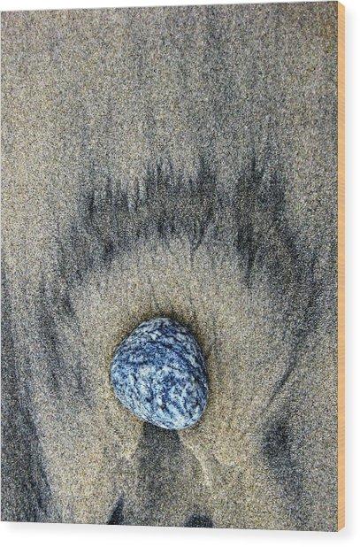 Earth Flame Wood Print