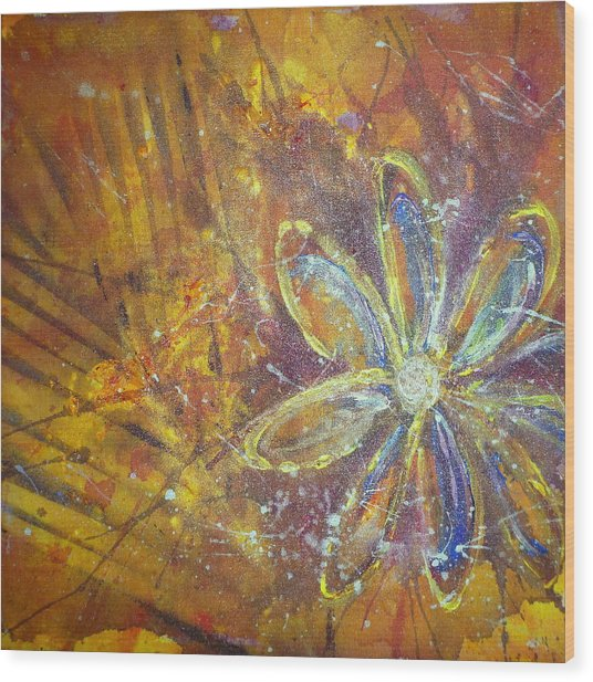 Earth Flower Wood Print