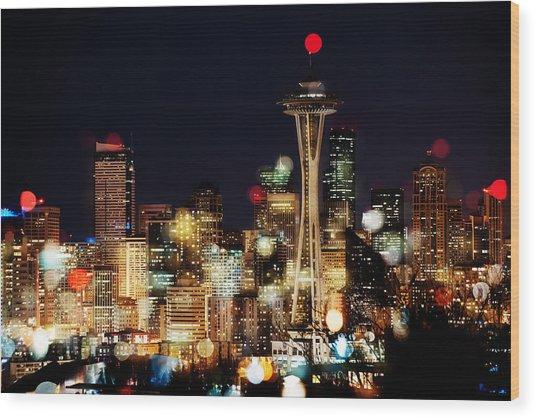 Earth Hour Spots A354 Wood Print by Yoshiki Nakamura
