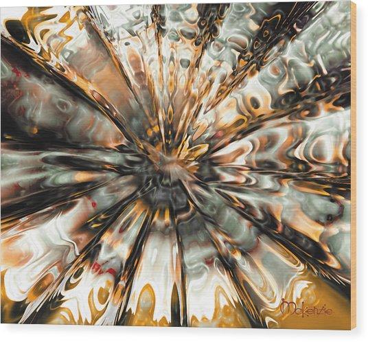 Earth Impact Wood Print by Artist   McKenzie