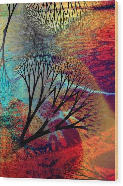 Earth Song 10 Wood Print by Helene Kippert