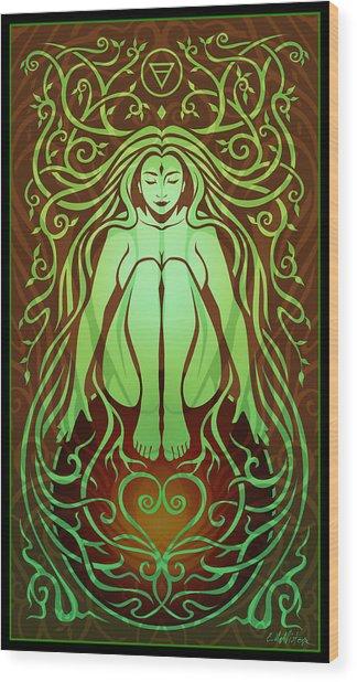Earth Spirit Wood Print by Cristina McAllister