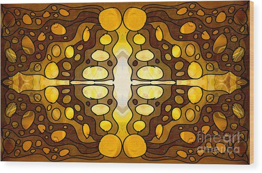 Earthly Awareness Abstract Organic Artwork By Omaste Witkowski Wood Print