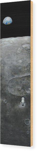 Earthrise  Wood Print