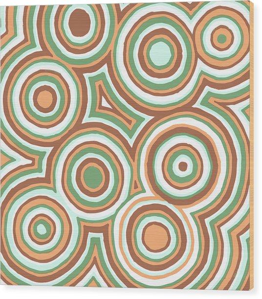 Earthy Drops Wood Print