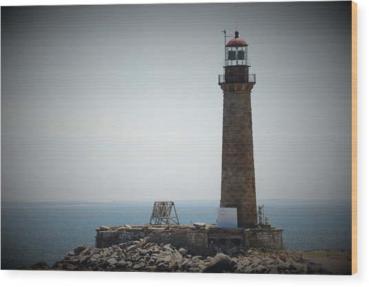 East Coast Lighthouse Wood Print