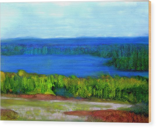 East Grand Lake Maine Wood Print