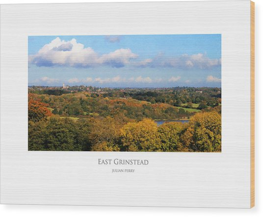 Wood Print featuring the digital art East Grinstead by Julian Perry