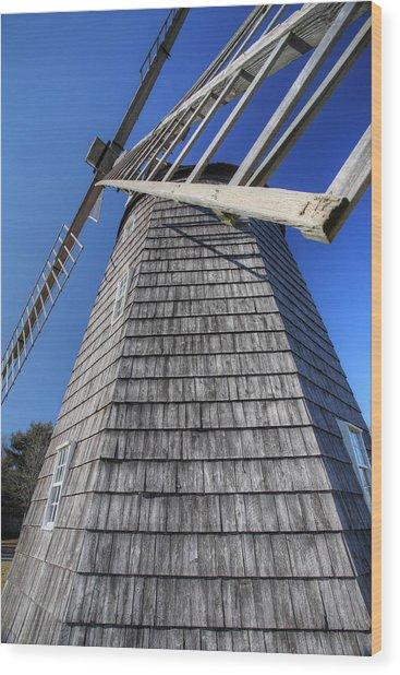 East Hampton Windmill Wood Print