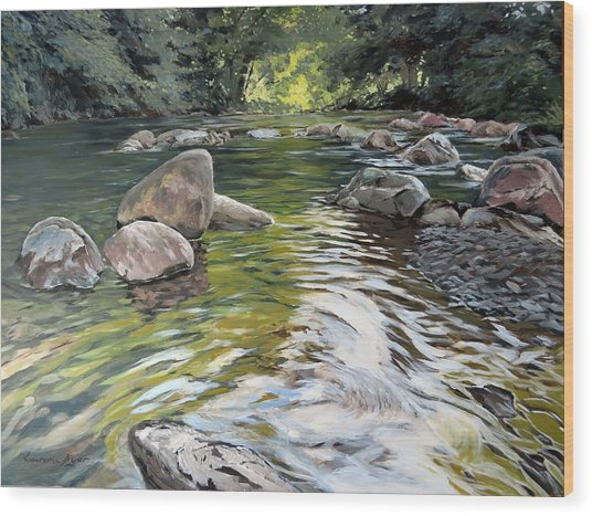 East Okement River Wood Print