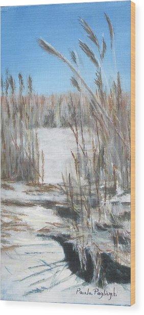 East Point Beach Wood Print