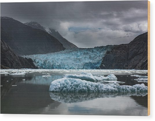 East Sawyer Glacier Wood Print