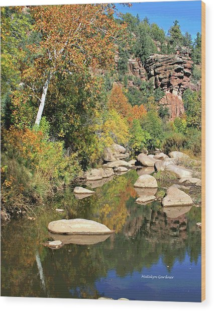 East Verde Fall Crossing Wood Print