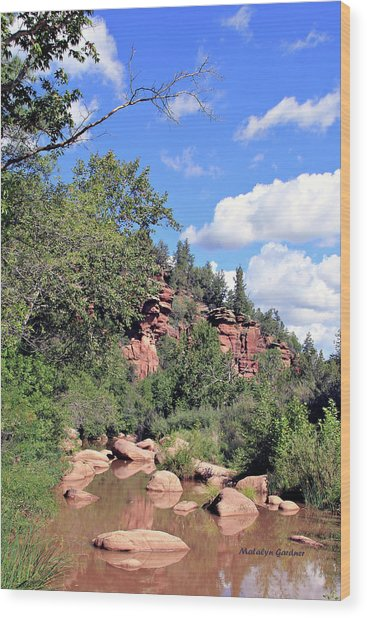 East Verde Summer Crossing Wood Print