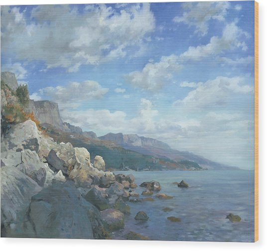 East View. A Seascape In The Vicinity Of Foros Mmxi Wood Print
