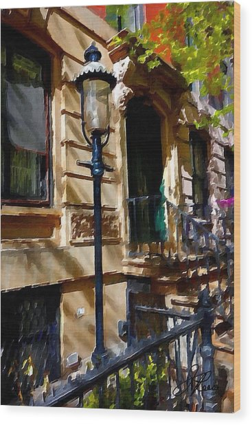 East Village New York Townhouse Wood Print