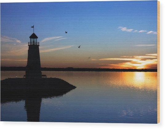 East Warf Sunset Wood Print