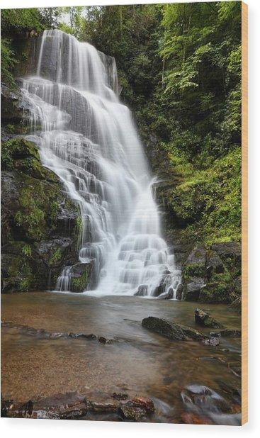 Eastatoe Falls Rages Wood Print