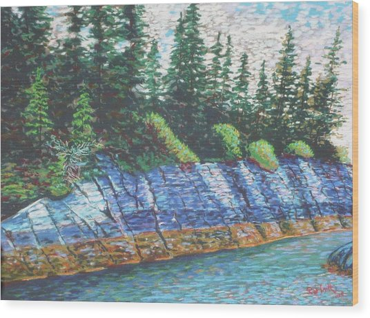 Eastbay Cut Nova Scotia Wood Print
